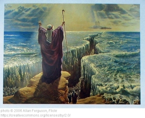 Moses Parting Red Sea